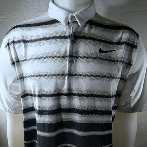 Men's Striped Golf Polo Nike Dri-FIT